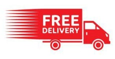 Delivery truck with the word 'FREE Delivery' written on it