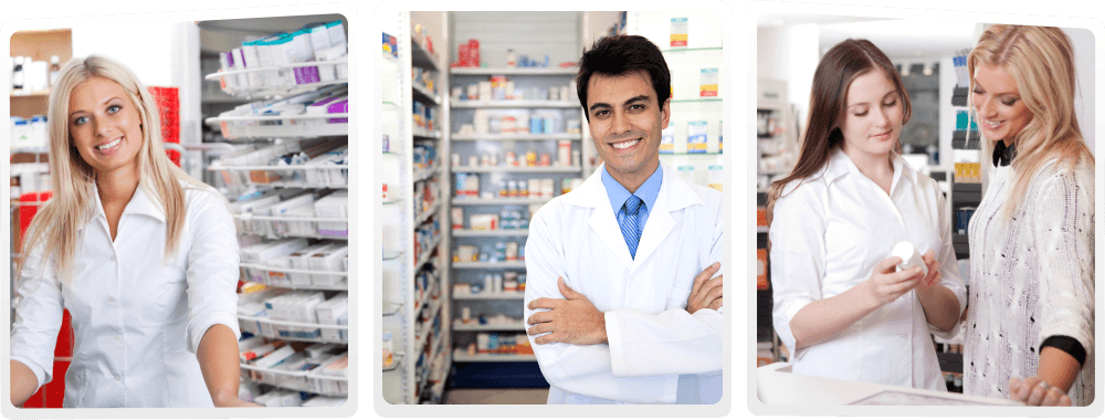 Pharmacists and pharmacy customers